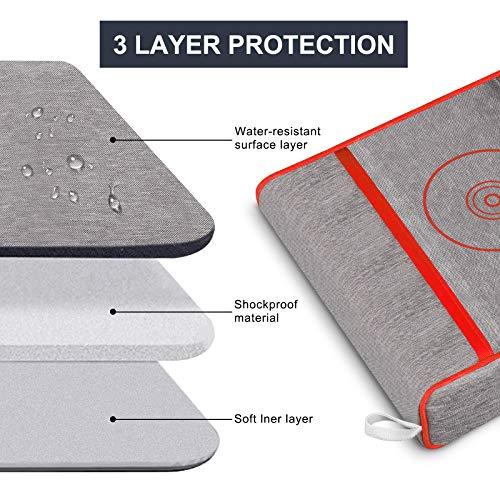 Anti-Staub-Abdeckung für PS5,Schutzhülle für Sony Playstation 5,Anti Scratch Wasserdicht,Unterstützung für PS5, Controller und 12 Game Discs (Rot)