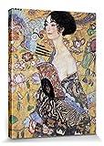 1art1 Gustav Klimt - Mujer con Abanico, 1917-18 Cuadro, Lienzo Montado sobre Bastidor (40 x 30cm)