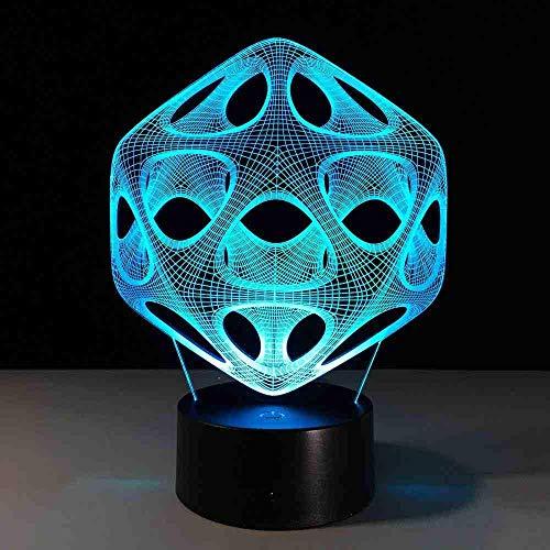7 farbwechsel 3d led tischlampe licht usb abstrakte nachtlicht bunte lava lampe für kinder weihnachtsgeschenk