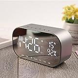 StAuoPK USB Bluetooth sans Fil de Charge Haut-Parleur, Mini LED Home Montre numérique électronique Horloge,...