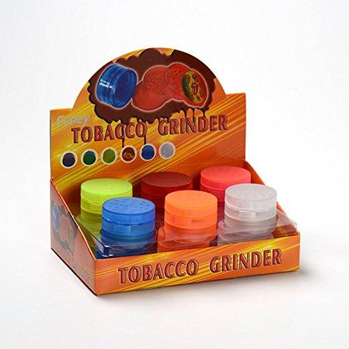 12x Coney Plastik Grinder Rubber 4 Teile 6 Farben Sortiert