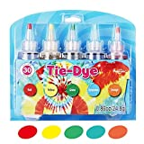 Ganmaov 5 Colores/Set Kit Tie-Dye, Tie-Dye Kit Algodón Lino Ropa Tintes, DIY Kit de Tinte de Moda, Rainbow Color DIY Craft Tools Suministros para Fiestas