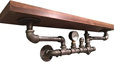 Yxsd Industriële Retro Waterpijp Muur Opknoping Partitie Rack Plank Woonkamer Bar Restaurant Decoratie Partitie Frame, 80x...