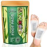 QVENE | Kit de 60 Parches 100% naturales como Turmalina, Quitina, Vitamina C, Fibra de Planta, Polvo de Iones y Dextrina que ayudan a eliminar toxinas, aliviar fatiga y quitar el dolor de pies