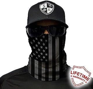 Salt Armour Face Mask Shield Protective Balaclava Bandana MicroFiber Tube Neck Warmer - Blackout American Flag