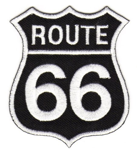 Parches - Route 66 Biker Rocker - negro