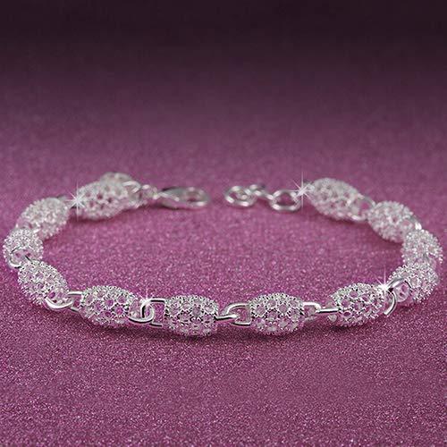 AchidistviQ Armband Damen 925 Sterling Silber Hohl Kette Armband Charm Handgelenk Armreif Verschluss Geschenk