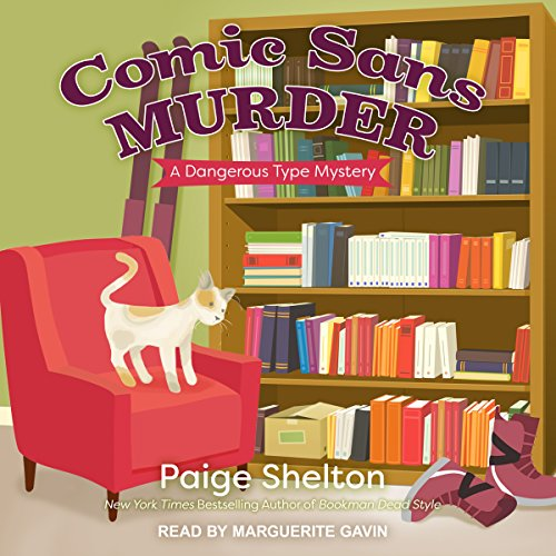 Comic Sans Murder audiobook cover art