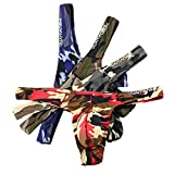 MuscleMate UltraFit Men's Camouflage Thong Underwear, Hot Men's Thong G-String...