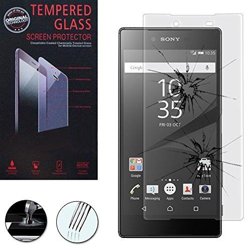 ANNART [1 pieza Protector de pantalla de cristal templado para Sony Xperia Z5 E6603 Z5 Dual E6633 – Transparente