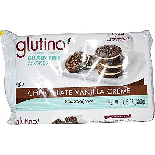 Glutino Chocolate Vanilla Cream Cookies, Gluten Free 10.5 OZ EA, 2 Pack