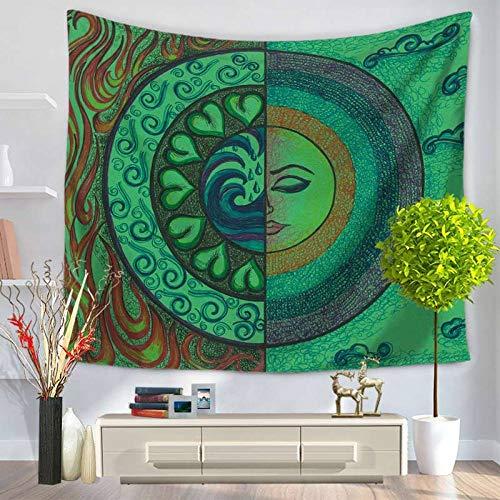 MRQXDP Kleurrijke zonne-olie schilderij abstracte kunst foto groene wandtapijt opknoping print tafelkleed deken beddengoed huisdecoratie voor woonkamer slaapkamer