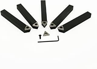 SHARS 5PC 3//4 Indexable Carbide TCMT Insert Lathe Turning Tool Bit Set CNC 404-1043 S
