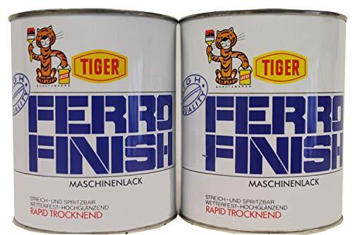 2x1 Kilogramm Tiger Ferro Finish Maschinenlack hochglänzend rapid trocken lösemittelhaltig 2 Kilogramm Farbwahl, Farbe (RAL):RAL 2000 Gelborange