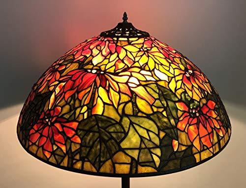 NoBeiYi - Pantalla de lámpara estilo clásico estilo Tiffany Jadestone, E-NTA099-U, 28 pulgadas de diámetro, colección de arte, paquete de 1