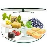 Plato giratorio de cristal de 45 cm para servir queso o plato templado.