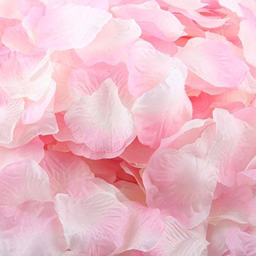 LEFV™ 1000pcs Silk Rose Petals Artificial Flower Wedding Party Vase Decor Bridal Shower Favor Centerpieces Confetti Decorations (40 Colors for Choice)- Light Pink