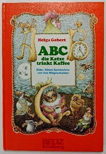 ABC, die Katze trinkt Kaffee