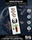 Cross Stitch Kit 'Star Wars: Master Yoda' - Needlepoint DIY Embroidery Bookmark
