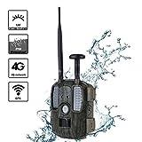 4Gワイルドライフカメラ、ハンティングトレイルカメラナイトビジョン、GPSトラッカー2インチLCDディスプレイIP66防水、屋外およびホームセキュリティ用
