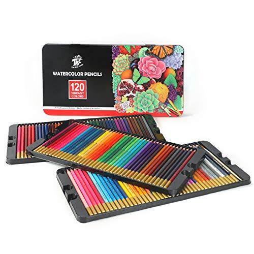 TBC The Best Crafts - Lápices de colores, 120 colores para acuarelables...