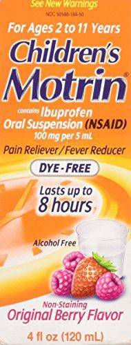 MOTRIN Children's Oral Suspension Dye-Free Berry, 4 oz