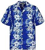 KY's Camisa hawaiana original Made in Hawaii azul L