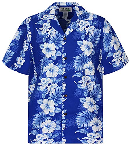 KY´s Original Camisa Hawaiana, Batik, azul S
