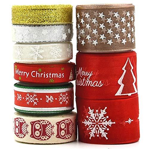 Amacoam Cinta Grosgrain Cinta Tela Navidad Cinta Regalo
