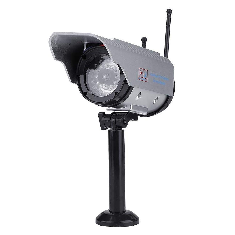 テナントストロー港Richer-R 防犯ダミーカメラ 太陽エネルギー偽造品/ダミーカメラ 調節可能 ソーラーパネル充電式 防犯 監視カメラ 防水LEDダミーカメラ 屋内屋外監視