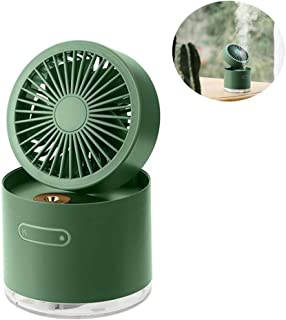 Cool Mist Humidifier,Folding Air Humidifier Spray Fan With Night Light,Portable Handheld Mini Electric Fan For Bedroom,Bab...