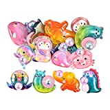 F Fityle 20x Cute Set Cartoon Arts Crafts Animal Ice Cream Kawaii Accesorios para Colgantes