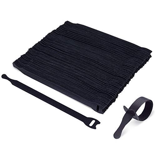 100 bridas finas reutilizables Trilancer negro – 20 cm – combinables –...