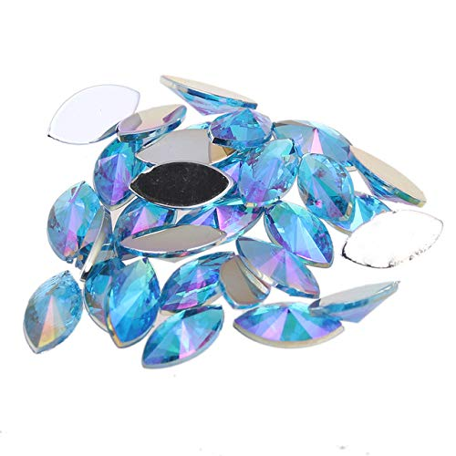 Kamas Many Colors 7x15mm 30pcs Beads Phoenix Mall Back Fixed price for sale Flat Acrylic Marquise