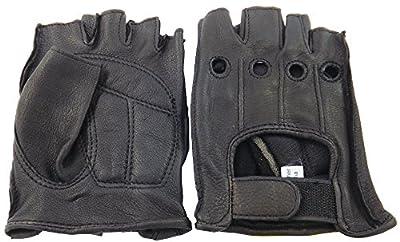 Napa Deerskin Foam Pad Fingerless Gloves