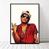 NVRENHUA Bruno Mars Poster Leinwanddruck Home Decor