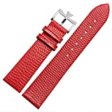 18mm 20mm Genuine Leather Watch Band Strap Buckle for Vacheron Constantin Watch (20mm, Red(Silver Buckle)) -  Richie strap