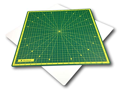 Skyhawk Self-Healing 18-Inch-by-18-Inch 360° Rotating Cutting Mat for Quilting with 17' Grid Lines