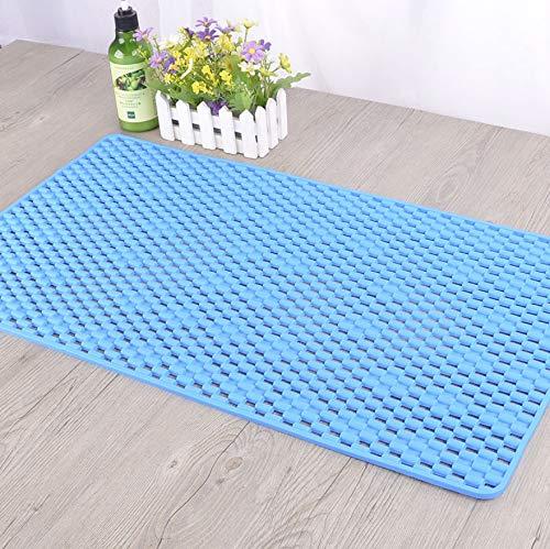 GjbCDWGLA badmat op maat te snijden, hemelsblauw, rechthoekig, antislip, badkuipmat, met zuignap, voor de badkamer, 40 x 70 cm