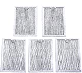 Ultra Durable WB06X10309 Microwave Oven Grease Filter 7-5/8' x 5' x 3/32' Replacement part by Blue Stars – Exact Fit For GE & Kenmore Microwaves - Replaces 910457 AP3668752 PS228019 - PACK OF 5