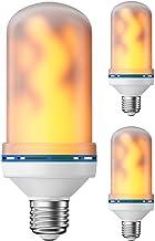 ledscom.de E27 LED vlammenlamp met lichteffect (4 verlichtingsmodi) 4W, 3st.