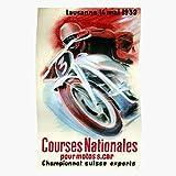 Retro Prix Bike Grand Vintage Lausanne Cool 1939 Regalo para la decoración del hogar Wall Art Print Poster 11.7 x 16.5 inch