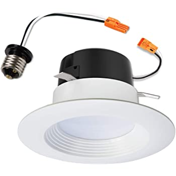 "HALO LT460WH6930 90CRI, 3000K, Integrated LED Recessed Retrofit Baffle Trim LED Module, 4"", White"