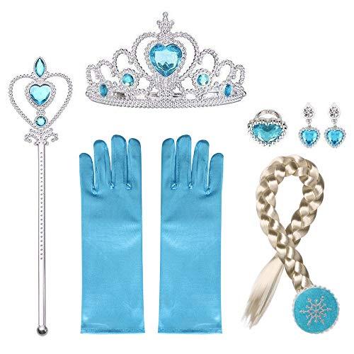 URAQT Princesa Disfraces con Accesorios, Accesorios de
