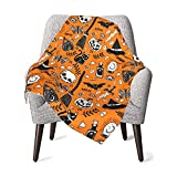 Baby Blankets Broomsticks Switch Hats for Boys Girls Halloween Bed Throw Blankets Nursery Swaddling Receiving
