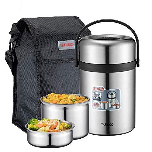 LFDHSF Impiegato in Acciaio Inossidabile Lunch Box Isolato Sottovuoto Cibo Bento Box Studente Cibo Bento Bucket-T0320 Conservazione del Calore per 12 Ore