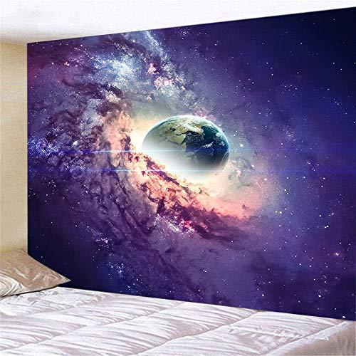 KHKJ Espacio Galaxy Sky Paisaje Arte Tapiz Decoración de Pared Decoración del hogar A4 200x150cm