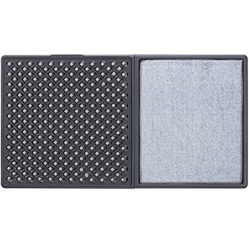 """Cleanse My Sole Sanitizing Shoe Door Mat - Disinfecting - Quick 2 Step Cleaning - Durable - Ultra Absorbent - Anti Slip Bottom - Automatic Shoe Sole Cleaner - 17"""" x 13"""""""