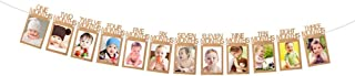 ASIBT Baby Growth Record 1-12 Mouth Photo Rope Banner for 1st Birthday Party Decoration