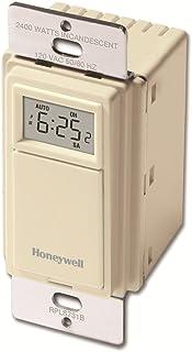 Honeywell Home RPLS731B1009/U RPLS731B 7-Day Programmable Switch Timer, Light Almond